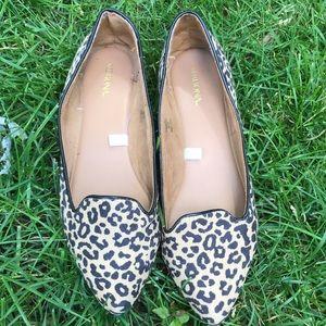 Merona leopard flats